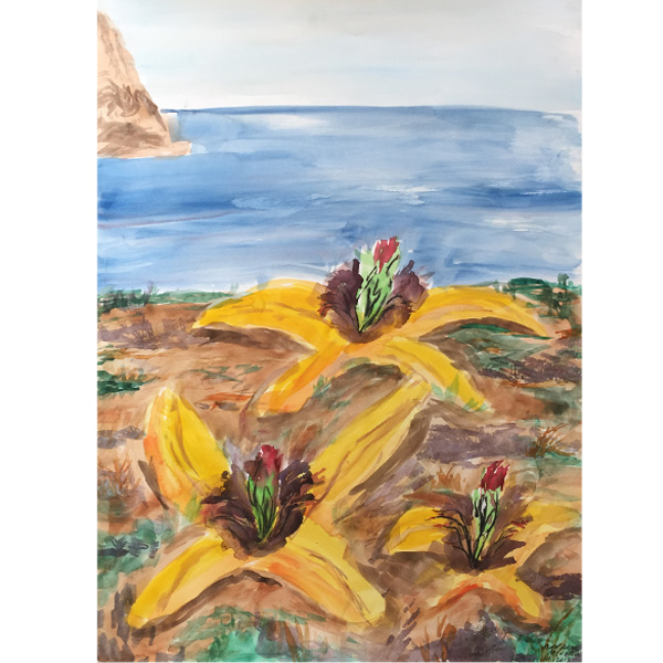 Ampliar Colors Menorca: <b>Menorca 2</b><br /> (Watercolor and charcoal)