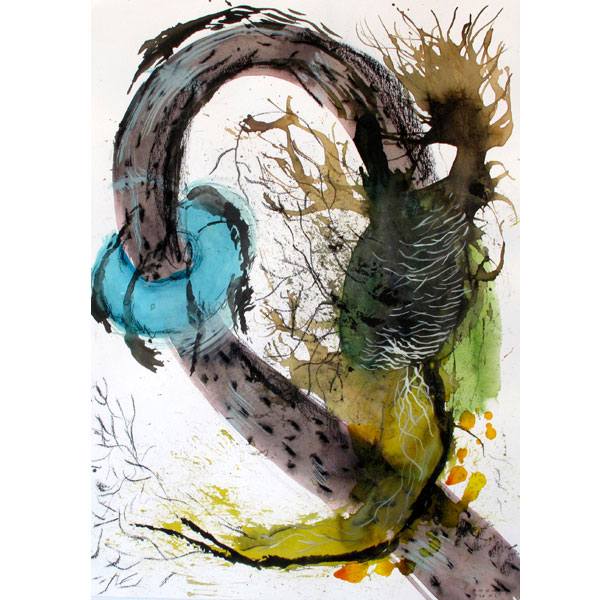 Ampliar Anger Nature:  (Watercolor and ink on paper.