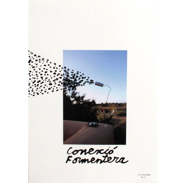 Ampliar Intervention on Photo: <b>Conexió Formentera</b><br /> (30x21. 2012)