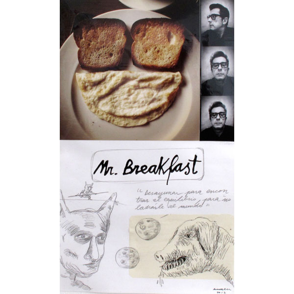 Ampliar Intervention on Photo: <b>Mr. Breakfast</b><br /> (37x22. 2012)