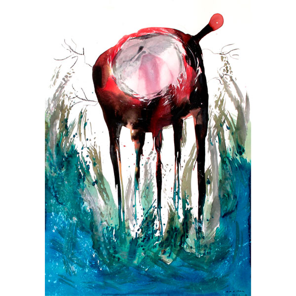 Ampliar Anger Nature:  (Watercolor and ink on paper. 50x70cm. 2012)